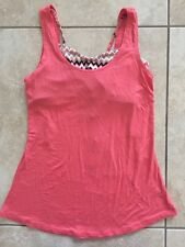NWT Ultra Flirt Junior's Tank Top With Printed Coral Chevron Bralette Size XS