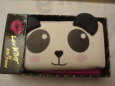 BETSEY JOHNSON BLACK/WHITE PANDA FACE SNAP CLUTCH WALLET NEW IN BOX