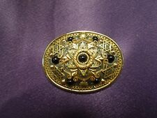 Michal Golan Star of David Zion Brooch Pin Judaism Pendant Gold Tone