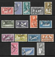 1963 Queen Elizabeth SG1 to SG16 Set of 16 Stamps Very Fine Used SOUTH GEORGIA
