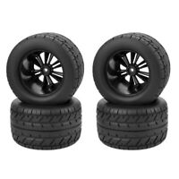 4pcs 1/10 Scale Rims and Tires RC Car Monster Truck Tires & Wheel Rim 12mm Hex