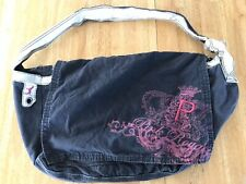 Pink by Victoria Secret Navy Fold Over Large Shoulder Soft Side Bag Dog