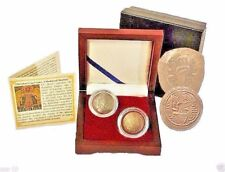 Two Christian Cup Coins,A Medieval Mystery Collection,Presentation Box & Story