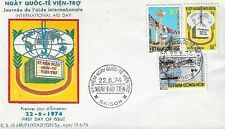 SOUTH VIETNAM 1974 #484-6 INTERNATIONAL AID DAY on a FDC Cachet