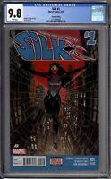 Silk 1 CGC Graded 9.8 NM/MINT 2nd Print Variant Marvel Comics 2015