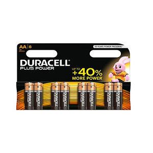 Duracell Powerplus AA Alkaline MN1500 Battery 1.5V 1 8 16 24 32 40 48
