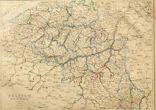 1865 ANTIQUE MAP BELGIUM DUCHY OF LUXEMBURG BRUSSELS BRABANT ANTWERP