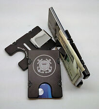 United States Coast Guard, Aluminum Wallet/Credit Card Holder RFID Protection