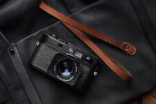 Hecho A Mano Negro De Cuero Rojo Cuello Cinturón Correa De Hombro Sling Leica Cámara Sony Fuji