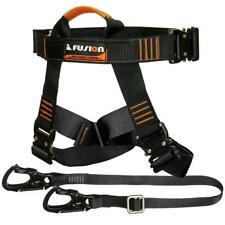 Fusion Climb Lanyard with Eye Loop Delta Ring 1.75 Wide Adjustable to 48 Black TZP-16-3-48-BLK