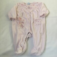 DISNEY pink Piglet floral babygrow sleepsuit Baby girls clothes 0-3 Months