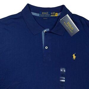 Polo Ralph Lauren Men's XXL Classic Fit Jersey Polo Shirt Navy