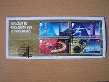 La Grande-Bretagne, 2012 Londres Jeux Olympiques, M/feuille sur pièce, Utilisé, joli objet.
