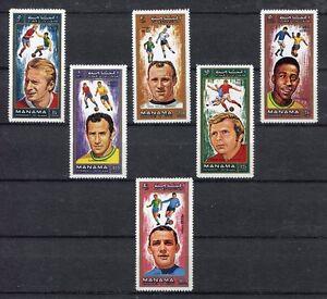 s4964) MANAMA 1970 MNH** WC Football - Coppa del Mondo Calcio 6v