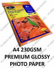 1000 SHEETS OF PREMIUM GLOSSY GLOSS A4 PHOTO PAPER 230GSM SUMVISION INKJET PAPER