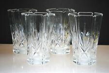 EXCELLENT VINTAGE REPLACEMENT CHANDELIER GLASS SHADES (SET OF 4) FAN CUT DESIGN