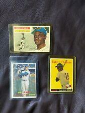 Vintage 1957 Topps Baseball Cards Bundle of 3 Duke Snider Valmy Thomas Dave Pope