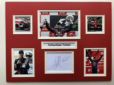 "Formule 1 Sebastian Vettel signé 16"" x 12"" double mounted Display"