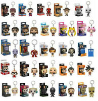 Funko pop Marvels Disney Dc ironman spiderman rick and morty various keychain