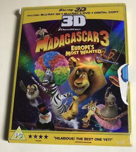 Madagascar 3: Europe's Most Wanted (Blu-ray 3D + Blu-ray + DVD + Digital Copy) [