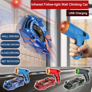 Remote Control Race Wall Climbing Car Radio Controlled Laser Gun Stunt Xmas Toy