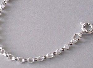925 Sterling Silver 2.5mm Wide Belcher Bracelet Anklet Necklace Chain MULTI SIZE