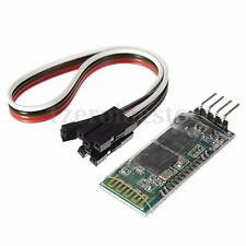 HC-06 4 Pin Serial Wireless Bluetooth RF Transceiver Module + Cables For Arduino