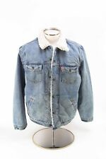 *NEW* w/tags Levi's Vintage Inspired Distressed Faux Shearling Trucker Jacket L