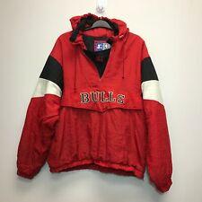Mens CHICAGO BULLS  STARTER 1/4 zip pullover Jacket size XL