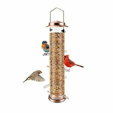 New listing Mixxidea Finch Bird Feeder Hanging Metal Thistle Seed Tube Feeder with 8 Feed.  00006000