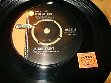 JACKIE TRENT - ONLY ONE SUCH AS YOU - IF YOU LOVE ME  / LISTEN - GIRL POPCORN