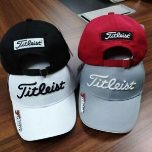 4 Colors Embroidered Titleist Golf Cap Adjustable Strapback: One Size Fits Most