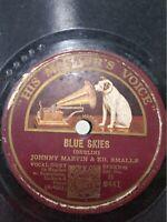 JOHNNY MARVIN ED SMALLE GENE AUSTIN tenor english piano 78 RPM RECORD INDIA VG+