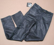"New NWT USA Bikers Dream Apparel Leather Motorcycle Pants Size 30 / 34"" Inseam"