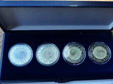 Pope Benedict XVI, Somalia 2005, coin set, 4 x $1 dollar coins, COA