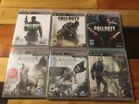 PS3 Lot Of 6 Call Of Duty Assassins Creed Crysis Games Warfare Creed Black