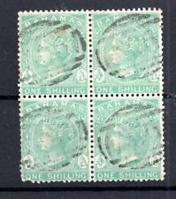 Bahamas QV 1882 1/- green good used block SG#44 WS15268