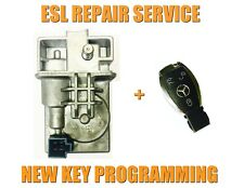 MERCEDES W212 ESL ELV REPAIR SERVICE + NEW CHROME KEY & PROGRAMMING