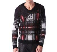 DIESEL Mens K-CLAPTON V-Neck Mohair Blend Pullover Sweater 00SL2N-0PAKF-900