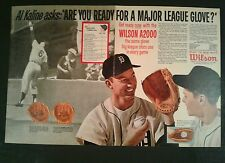 1963 Al Kaline Detroit Tigers Wilson Model Baseball Glove A2920 2 Page Photo AD