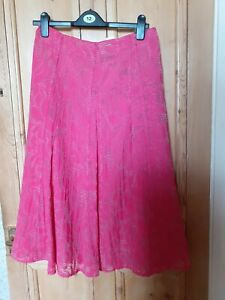 M & S Pink Crinkle Skirt Size 12