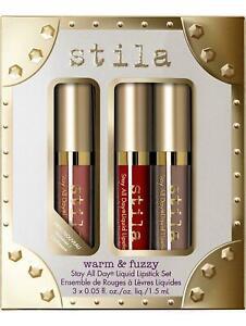 Stila Stay All Day Liquid Lipstick Set Warm & Fuzzy NEW AUTHENTIC