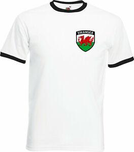 Swansea City Style FC Football Club Retro Style Soccer T-Shirt - All Sizes