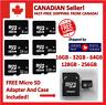 Micro SD Memory Card High Speed 16GB 32GB 64GB 128GB 256GB With Adapter Class 10