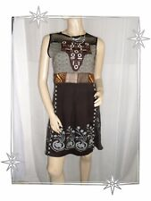 B - Superbe Robe Fantaisie chasuble marron Savage Culture Taille M