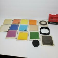 HUGE LOT OF VTG AMBICO COLOR CAMERA FILTERS W/ CASES & MORE