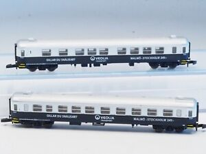 FR Z-scale Veolia Transport passenger cars Malmö-Stockholm Swedish RR 2 each