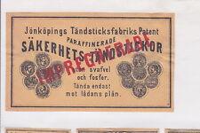 Ancienne  étiquette de paquet Allumettes   Suède BN22680
