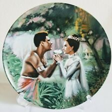 """Knowles """"We Kiss in a Shadow"""" Porcelain Collectors Plate by William Chambers Vtg"""