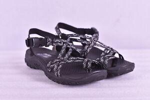Women's Skechers Reggae - Happy Rainbow Strappy Sandals, Black, 5M